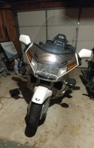 My poor, neglected Goldwing before the Plasti Dip
